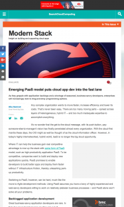article_Emerging-PaaS-model-puts-cloud-app-dev-into-the-fast-lane